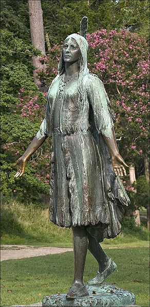 Statue of Pocahontas  at Jamestowne