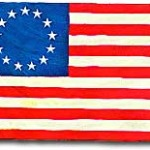 """Stars and Stripes"" official flag - June 14, 1777."