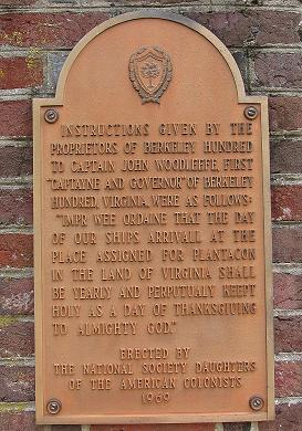 First Official Thanksgiving Commemoration Plaque -2