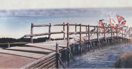 Artist's rendering of Great Bridge