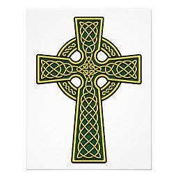 gold and green celtic cross